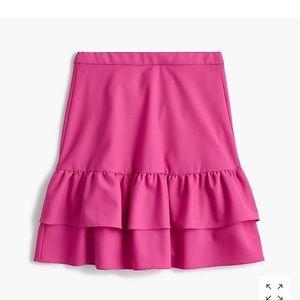 NWT J. Crew Pink Flounce Skirt